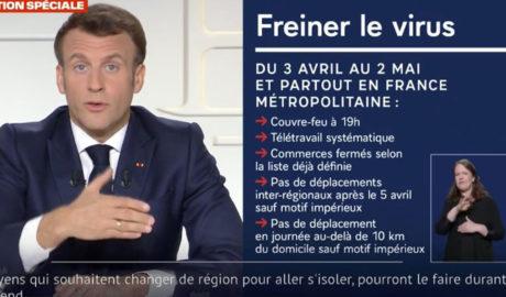 3度目のフランス全土のロックダウン